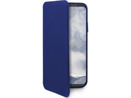 Pouzdro typu kniha CELLY Prestige pro Samsung Galaxy S9, PU kůže, modré