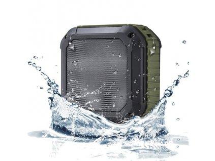 Bezdrátový voděodolný Bluetooth reproduktor s NFC W-King™ (Barva Černý)