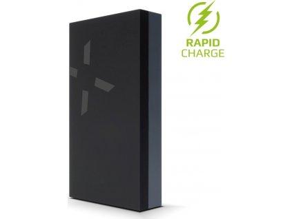 Powerbanka FIXED Zen Power 12 000 v kompaktním provedení, 12 000 mAh, černá