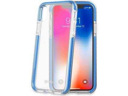Zadní kryt CELLY Hexagon pro Apple iPhone X/XS, světle modrý
