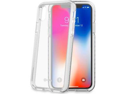 Zadní kryt CELLY Hexagon pro Apple iPhone X/XS, bílý
