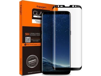 Spigen GLAS.tR FC, black - Samsung Galaxy S8
