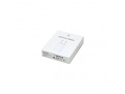 Apple originální USB nabíječka / adaptér MD813ZM/A (A1400) (retail pack)