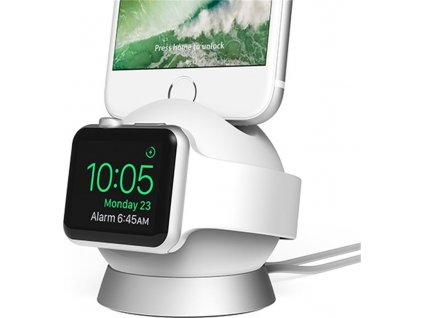 iOttie OmniBolt Charging Stand, white/silver