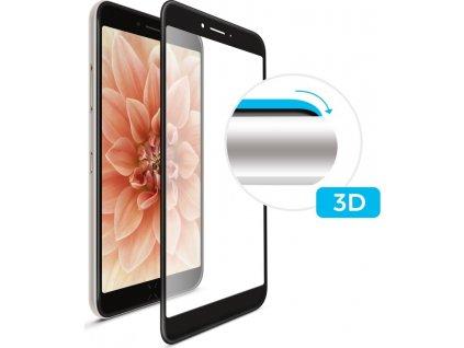 Ochranné tvrzené sklo FIXED 3D Full-Cover Apple iPhone 6/6s/7/8/SE (2020), s lepením přes celý displej, černé, 0.33 mm