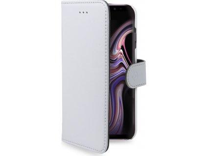 Pouzdro typu kniha CELLY Wally pro Samsung Galaxy Note 9, PU kůže, bílé