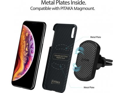 Pitaka MagEZ case, black/grey - iPhone XS Max
