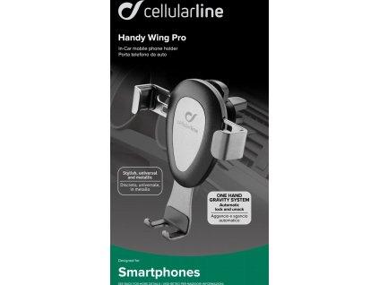 Univerzální držák do ventilace Cellularline Handy Wing Pro, černý