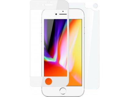 Set ochranných tvrzených skel FIXED pro přední a zadní stranu Apple iPhone 7/8, stříbrný