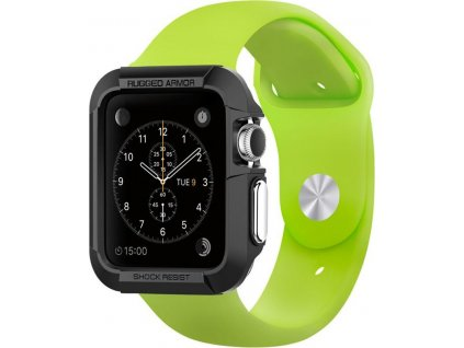 20621 spigen rugged armor black apple watch 3 2 1 42mm