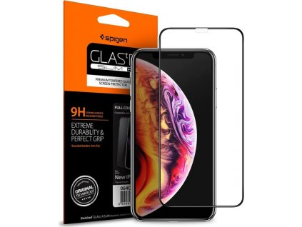 20762 spigen glass fc hd black iphone xr
