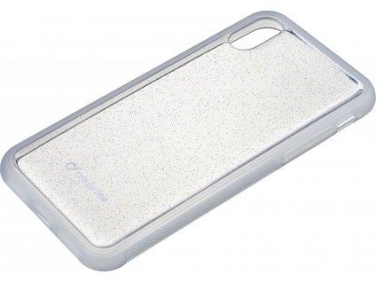Adhezivní zadní kryt Cellularline SELFIE CASE pro Apple iPhone XS Max, transparentní