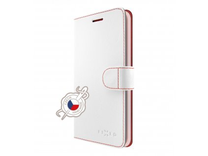 Pouzdro typu kniha FIXED FIT pro Apple iPhone XS Max, bílé
