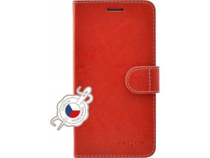 Pouzdro typu kniha FIXED FIT pro Apple iPhone XS Max, červené