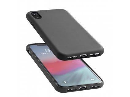 Ochranný silikonový kryt CellularLine SENSATION pro Apple iPhone XR, černý