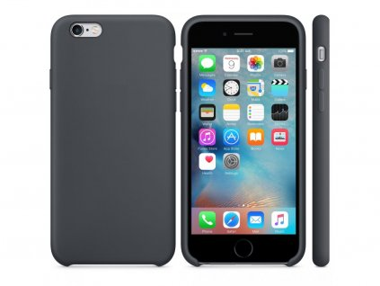 21146 originalni silikonovy kryt clearo pro iphone 7 plus 8 plus sedy