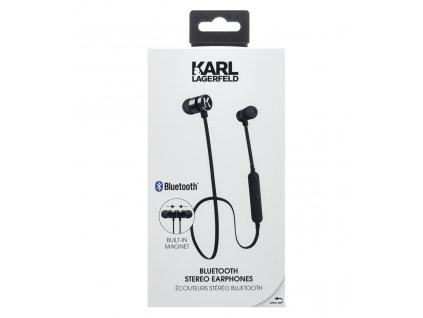 Bluetooth sluchátka Karl Lagerfeld Bluetooth Stereo Headset Black (EU Blister)