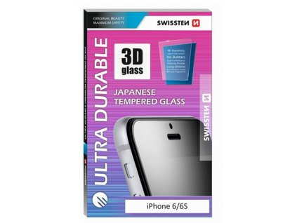 21500 tvrzene 3d sklo swissten ultra durable pro apple iphone 6 6s bile