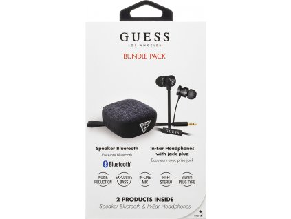 GUBPERSPBK Guess Bundle In-Ear Headphones + Bluetooth Speaker Black (EU Blister)