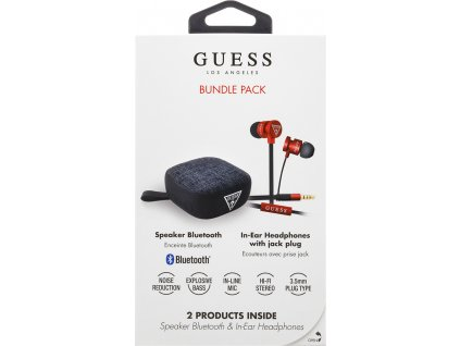 GUBPERSPRE Guess Bundle In-Ear Headphones + Bluetooth Speaker Red (EU Blister)