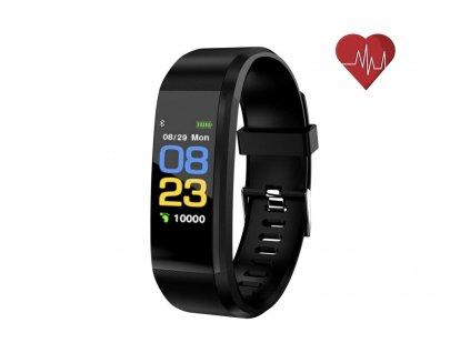 Fitness náramek ID 115 Plus s barevným displejem – černé