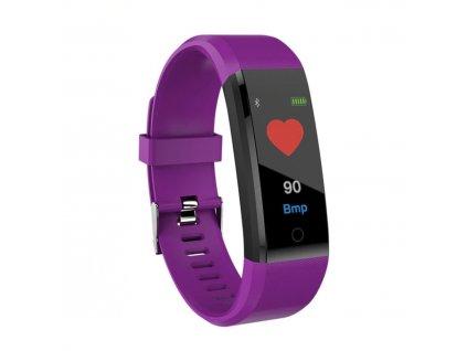 Fitness náramek ID 115 Plus s barevným displejem + CZ/SK aplikace – fialové