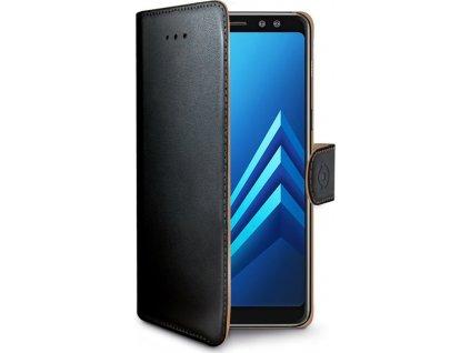 Pouzdro typu kniha CELLY Wally pro Samsung Galaxy A8 (2018), PU kůže, černé