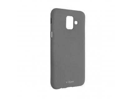 Zadní pogumovaný kryt FIXED Story pro Samsung Galaxy A6 (2018), šedý