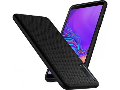 23591 spigen liquid air matte black galaxy a7 2018