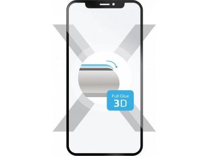 Ochranné tvrzené sklo FIXED 3D Full-Cover pro Samsung Galaxy A7 (2018), s lepením přes celý displej, černé