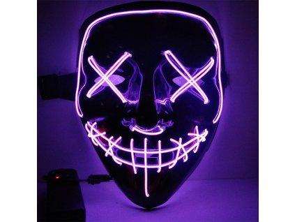 neonova maska fialova purge