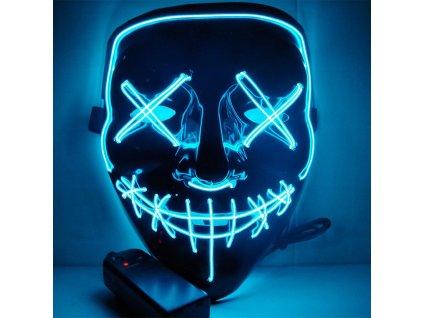 neonova maska světle modrá purge