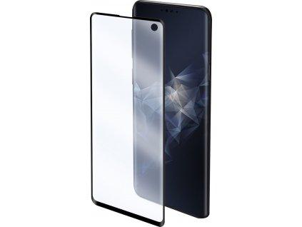 Prémiová ochranná fólie displeje CELLY Nano Film pro Samsung Galaxy S10, černá