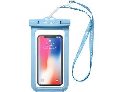 "Spigen Velo A600 8"" Waterproof Phone Case, blue"