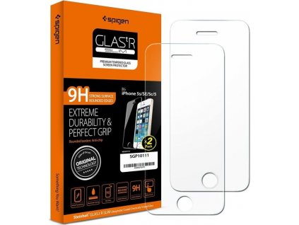 Spigen Glas.tR SLIM 2 pack - iPhone SE/5s/5
