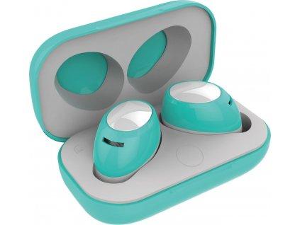 True Wireless sluchátka CELLY Twins Air, tyrkysová