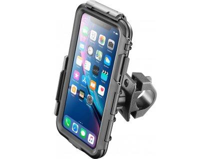 Voděodolné pouzdro Interphone pro Apple iPhone XR, úchyt na řídítka, černé