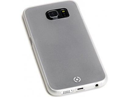 Ultra tenké TPU pouzdro CELLY Frost pro Samsung Galaxy S6 Edge Plus, 0,29 mm, bílé