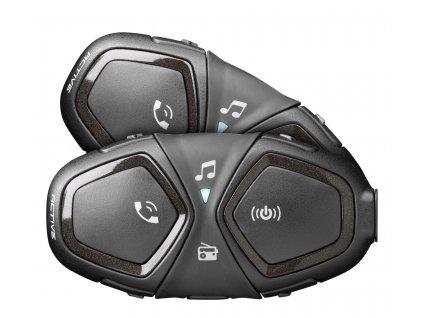 Bluetooth handsfree pro uzavřené a otevřené přilby CellularLine Interphone ACTIVE, Twin Pack