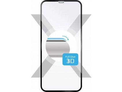 Ochranné tvrzené sklo FIXED 3D Full-Cover pro Apple iPhone XS Max/11 Pro Max, s lepením přes celý displej, černé