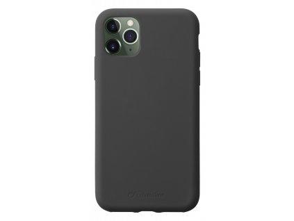 Ochranný silikonový kryt CellularLine SENSATION pro Apple iPhone 11 Pro Max, černý