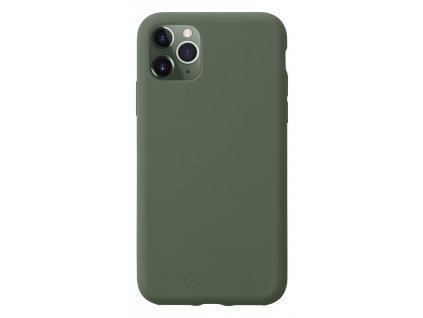 Ochranný silikonový kryt CellularLine SENSATION pro Apple iPhone 11 Pro, zelený