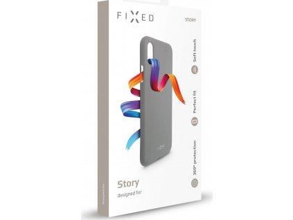 Zadní pogumovaný kryt FIXED Story pro Apple iPhone 11 Pro Max, šedý