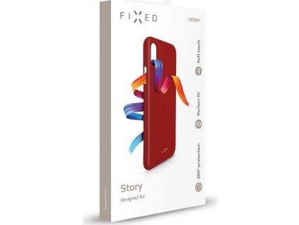 Zadní pogumovaný kryt FIXED Story pro Apple iPhone 11 Pro Max, červený