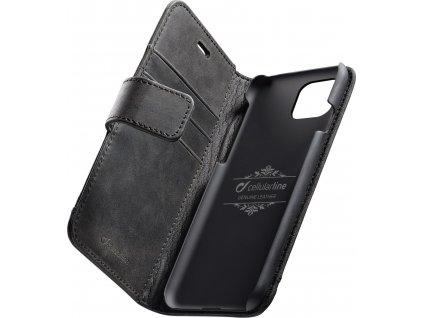 Prémiové kožené pouzdro typu kniha Cellularine Supreme pro Apple iPhone 11 Pro, černé