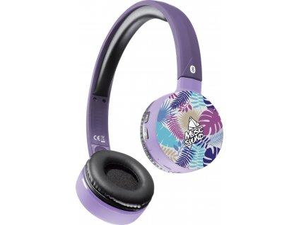 Bluetooth sluchátka MUSIC SOUND s hlavovým mostem a mikrofonem, vzor 1