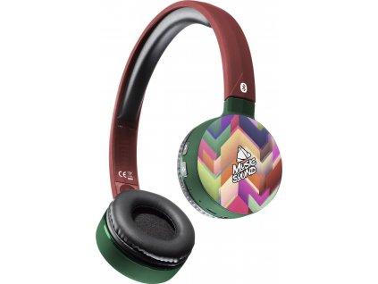 Bluetooth sluchátka MUSIC SOUND s hlavovým mostem a mikrofonem, vzor 2