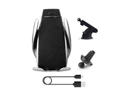 Clearo S5 2in1 bezdotykový držák se senzorem do ventilace auta a na palubní desku / čelní sklo s Qi Wireless bezdrátovým nabíjením