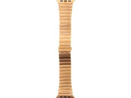 Tactical 011 Buckle Magnetický Kovový Řemínek pro iWatch 4 40mm Rose Gold (EU Blister)