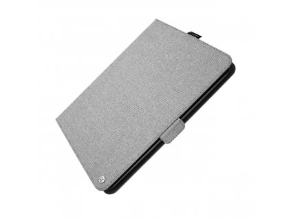 """Textilní pouzdro pro 10,1"""" tablety FIXED Novel se stojánkem a kapsou pro stylus, šedé"""